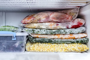 Food in the freezer